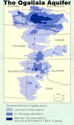 the ogallala aquifer is a vast shallow underground water table aquifer beneath the great plains in the united states its one of the largest aquifers